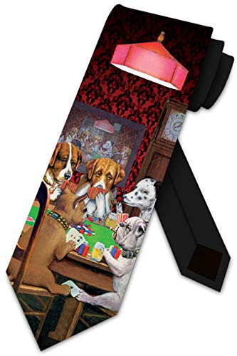Dogs Playing Poker Ties Neckties