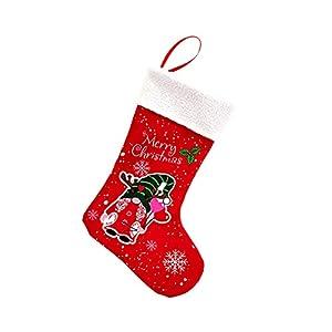 Yaoyodd19 Goodie Bag Fireplace Porch Hangings Fabric Christmas Pattern Women from Yaoyodd19