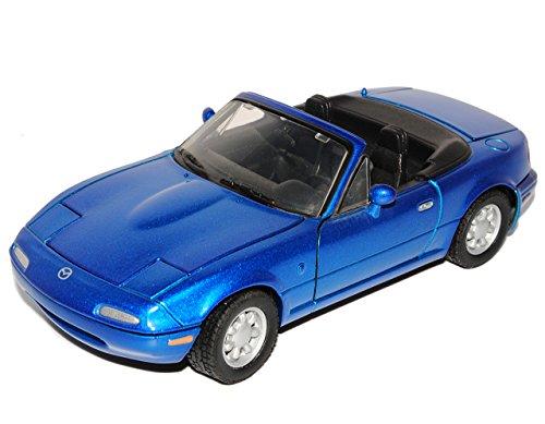 Motormax Mazda MX-5 Cabrio Blau 1. Generation NA 1989-1998 1/24 Modell Auto mit individiuellem Wunschkennzeichen
