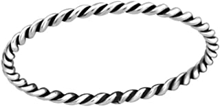 Liara Polished Nickel Free 2.5mm Band Plain Rings 925 Sterling Silver