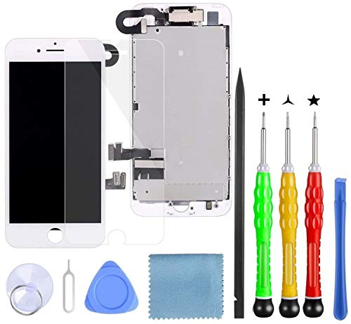 Lansupp Pantalla para iPhone 7 Plus Blanco, Táctil LCD Reemplazo con Cámara...