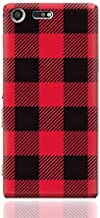 Sony Xperia XZ Premium TPU Silicone Case With Red And Black Plaid Fabric Design