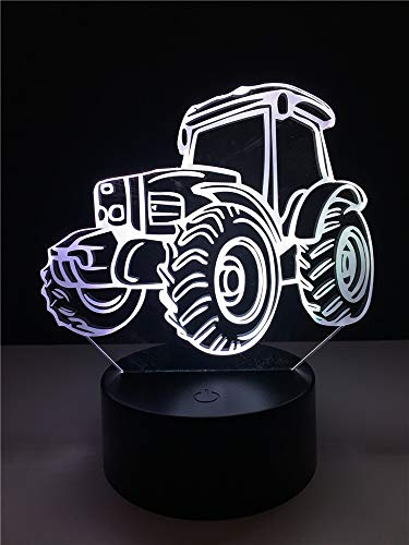 3D Illusion Night Light ATV LED Table Lamp 7 Color Touch Light Bedroom Bedside Decoration for Kids Boys Girls Birthday Christmas Gift,with USB Cable