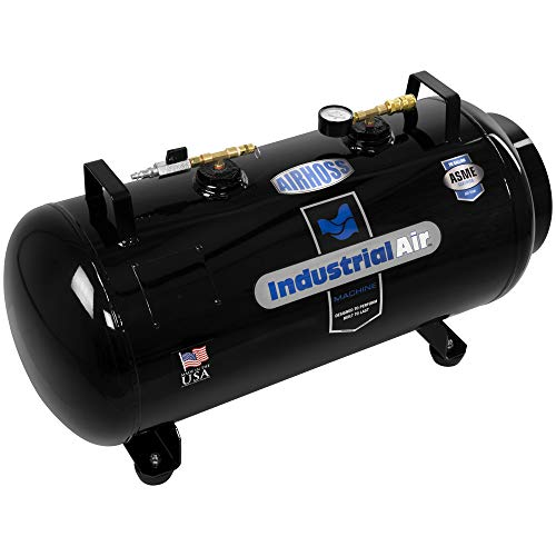 Industrial Air IT20ASME 20 gallon ASME Certified Vertical/Horizontal Air Receiver Tank, Black, 33.4 x 14 x 18.8 inches