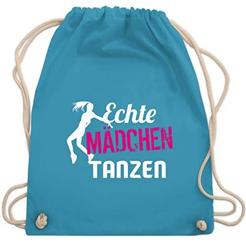 Shirtracer Tanzsport - Echte Mädchen tanzen - Unisize - Hellblau - WM110 - Turnbeutel und Stoffbeutel aus Bio-Baumwolle