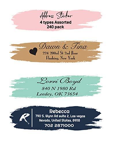 Amerixun Custom Address Label,Return Address Label Sticker,Personalized Wedding,Mail,Address Label 240 Pack