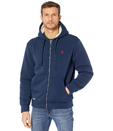 U.S. Polo Assn. Fleece Full Zip Hoodie Classic Navy XL