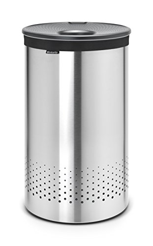 Brabantia 105166 Wäschebox 60 L Kunststoffdeckel Dark Grey, matt steel