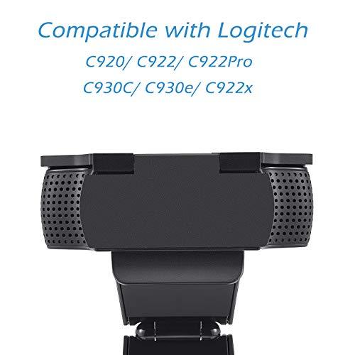 CloudValley Webcam-Abdeckung, kompatibel mit Logitech, Privatsphäre Abdeckung für C920 Pro, C930e, C922x & C922 HD Pro, schützt Objektiv und Sicherheit, Mattschwarz, 180° Flip Privacy Shutter
