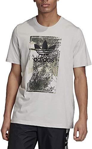 adidas Camo Tongue tee T-Shirt, Hombre, Grey One f17, M