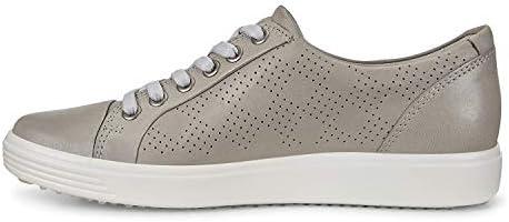 ECCO Women s Soft 7 Tie Sneaker Wild Dove Nubuck Perforated 10 10 5 product image