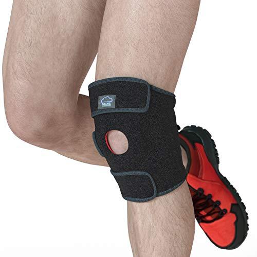 Modvel Medizinische Geräte & Schienen - Knie, Premium Kniebandage – Flexibles Neopren Knieschutzhülle, Atmungsaktives Unisex Knie Kompressions für Rennen, Sport etc. Fördert Schmerzlinderung (MV-105)