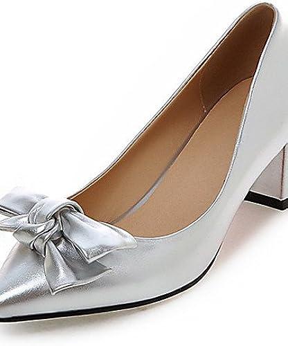 GGX  Chaussures de mariage-Noir   Rose    Rouge   Argent-Mariage   Habillé   Soirée & EvéneHommest-Talons   Nouveauté   Bout Pointu-Chaussures à  confortablement