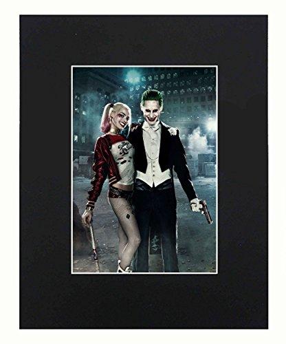 XQArtStudio Joker & Harley Quinn Portrait 8x10 Black Matted Art Artworks Print Paintings Printed Picture Photograph Poster Gift Wall Decor Display