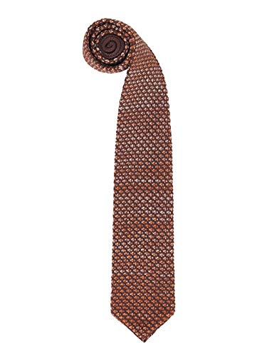 Hombres Corbata Estrecho de Punto Corbata Tricot con un Ancho de 6cm Narrow Tie Retro Sporty Casual Business Basic - Cuadros Marrón & Blanco
