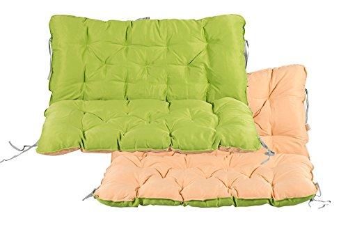 Meerweh Auflage mit Rückenteil für Bank, Wendekissen Polsterauflage Bankauflage, grün, 100 x 98 x 12 cm, 74082