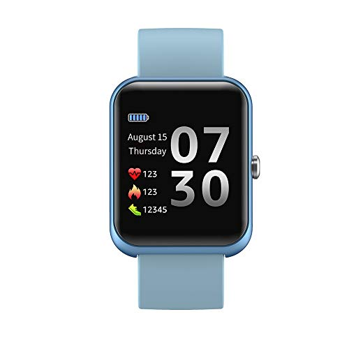 AERFA Smartwatch, Reloj Inteligente Deportivo Impermeable IP67 Pulsera de Actividad Inteligente con Monitor de Sueño Controlador de Música para Hombre Mujer y Niños, Admite Android y iOS
