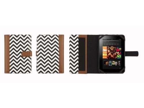 Griffin Technology GB35748 Trend Zig Zag Flip Case voor mobiele telefoon tot 17,8 cm (7 inch) tabak/zwart