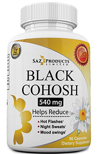 Whole Root Black Cohosh Menopause Complex - Relieves Hot Flashes Night Sweats Mood Swings Sleeplessness