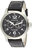 Invicta Men's I-Force Stainless Steel and Black Leather Quartz Watch, Black (Model: 0764)