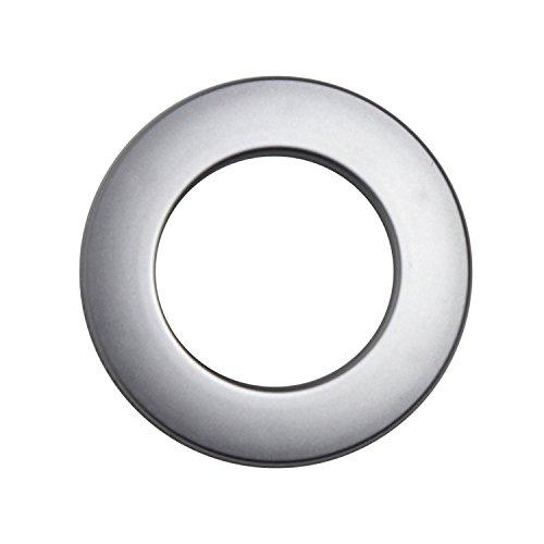 Stoffösen für 33mm Stoffloch - Hightech Kuststoff - Made in Germany - verschiedene Farben - Auch für dicke Stoffe geeignet - 10 Stück (chrom-matt)