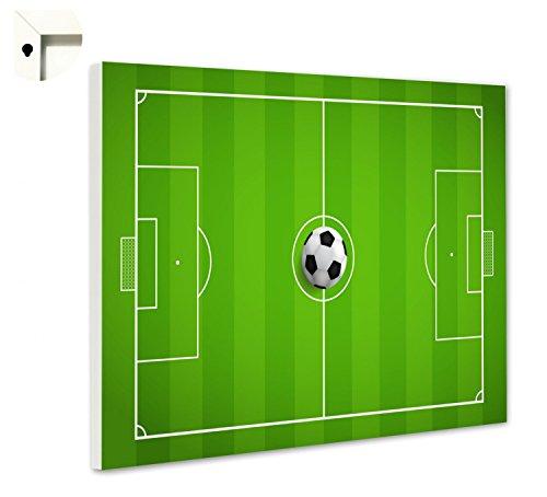 Magnettafel Pinnwand Memoboard Motiv Fußballfeld Größe 60 x 40 cm