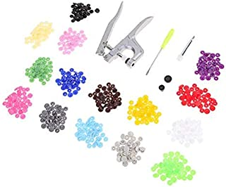 Metal Press Pliers Tools for T3 T5 T8 Kam Button Fastener Pliers 150 Snaps Buttons T5 Resin Press Stud Sewing Accessories (with Buttons)