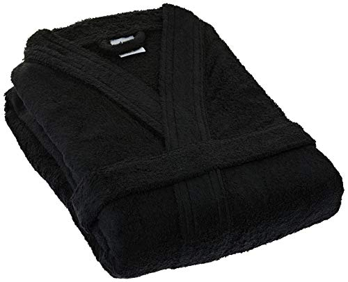 Lasa Home badjas, maat XL, collectie Pure Kimono, zwart, katoen, 140 x 48 x 1 cm