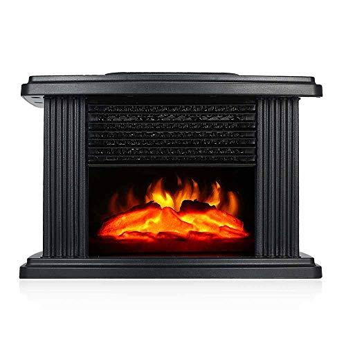 Calentador de chimenea eléctrico, calentador de estufa eléctrica de 1000 vatios con...