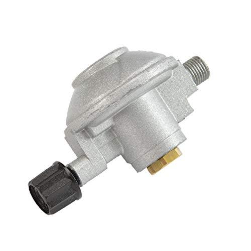 Landmann Druckminderer für Gaskartuschen | Für den Wechsel von Gasflaschenbetrieb auf Schraubkartuschenbetrieb | 50 mbar, 1,0 kg/h Gasdurchfluss
