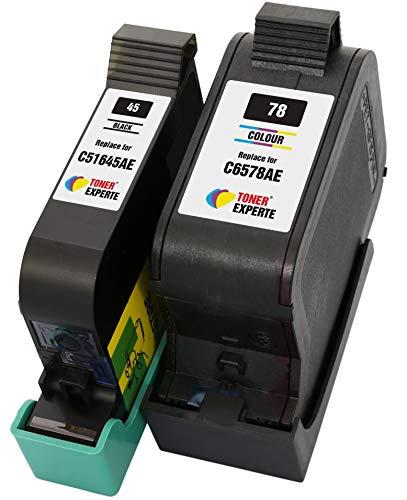 TONER EXPERTE® 2er Set Druckerpatronen kompatibel für HP 45 HP 78 51645AE C6578AE Officejet 1170 G55 G85 G95 K60 K80 Photosmart 1000 1100 1115 1215 1218 1315 P1000 P1100 Fax 1220 | hohe Kapazität