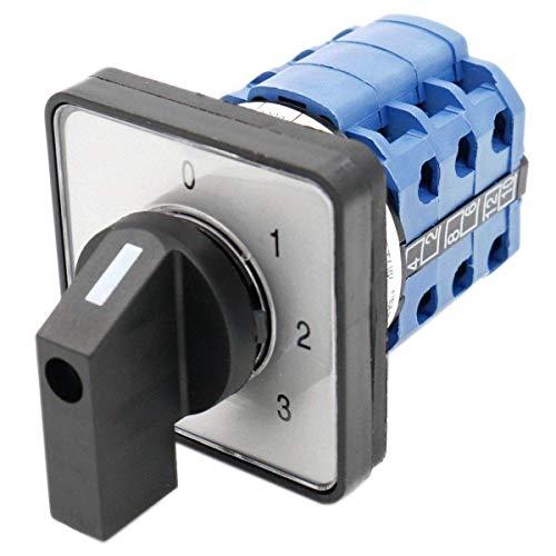 Heschen Universal-Nockenwählschalter LW28-20/0123.3 660V 20A 4 Position 3 Phase 12 Klemmen CE