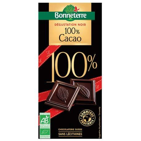 BONNETERRE Chocolat noir Dégustation 100% Cacao 70G Bio -