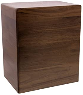 Arden Walnut Wooden Cremation Urn, Dark Wood Extra Large Size Urn