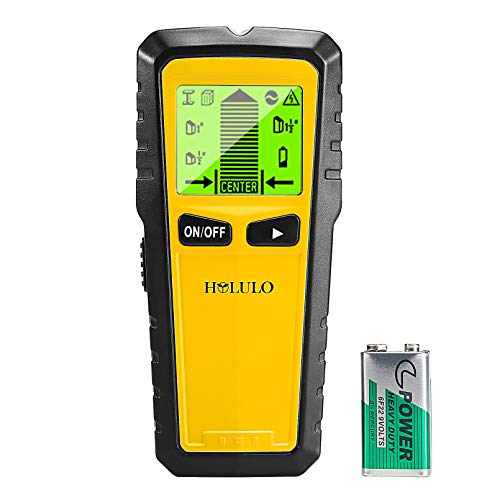 HOLULO Ortungsgerät Wand Scanner Detektor, 5 in 1 Multifunktions Stud finder Metalldetektor, Leitungssucher mit Großer LCD- Anzeige, für Metall, Holz, AC Spannungsführenden Scanner Detektor