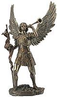 13インチ 大天使 聖ガブリエル ホーン付き コールドキャストブロンズフィギュア