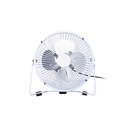 Ventilador USB pequeño ventilador eléctrico para el hogar, dormitorio, oficina, dormitorio, mesita de noche, ventilador de cama (negro, blanco, azul) Mini ventilador (color azul)