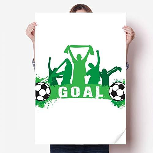 DIYthinker Win Football Football Sport Vinyle Autocollant de Mur Poster Mural Wallpaper Chambre Decal 80X55Cm 80cm x 55cm Multicolor