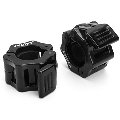 YYGIFT One Pair of 1'' Diameter Barbell Clamps ABS Locking Collars Clamp for 1 Inch Barbells