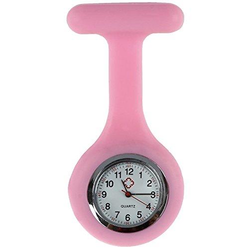 TOOGOO(R) Rosa Broche Reloj de Silicona Goma para Enfermeras
