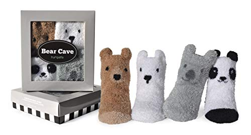 Trumpette Bear Cave 4pk Socks 0-12mo