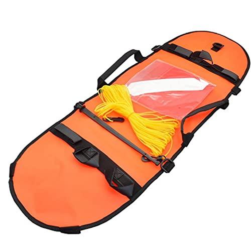 Bandera de pesca submarina de buceo Boya inflable de señal de alta visibilidad para el buceo pesca submarina Buceo Snorkeling Natación naranja de buceo de seguridad Gear