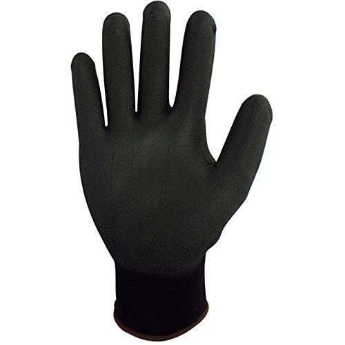 PRO FIT PU-Handschuh, Schwarz, 12 Paar, Größe 9
