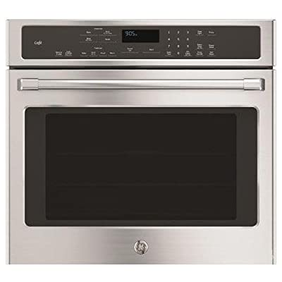 """GE Cafe CT9050SHSS 30"""" Single Electric Wall Oven with 10-Pass Bake Element, in Stainless Steel."""