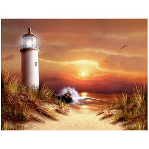DIY 5D Diamond Painting for Adults and Children, Sunrise Sunset Sea Landscape DIY 5D Diomand Painting Crystal Rhinestones Embroidery Pictures Crafts Home Wall Decor