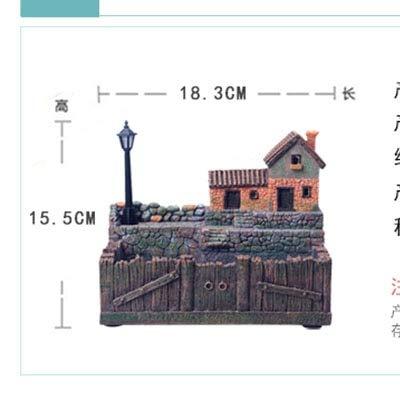 HONIC 1 Stück Harz Blumentopf mit Lampe für Sukkulenten Pflanzen Kreative Planter für kleine Bonsai Micro Landschaftsgarten-Dekoration: B tuosikana