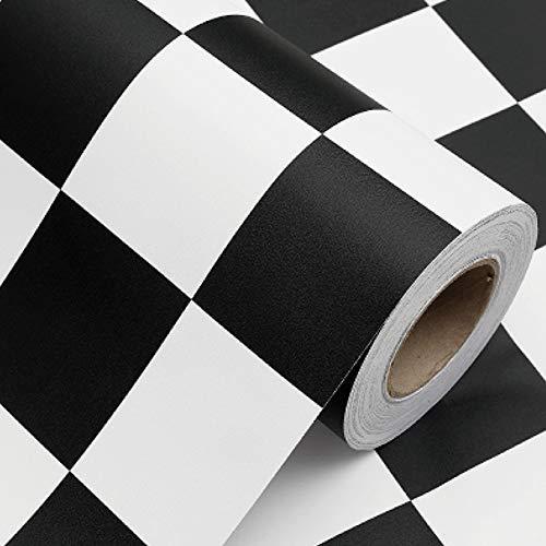 LLDKA Zelfklevend behang waterdicht warme kamer slaapzaal kantoor zwart-wit stickers gerenoveerd garderobe artefact onder 60 * 300