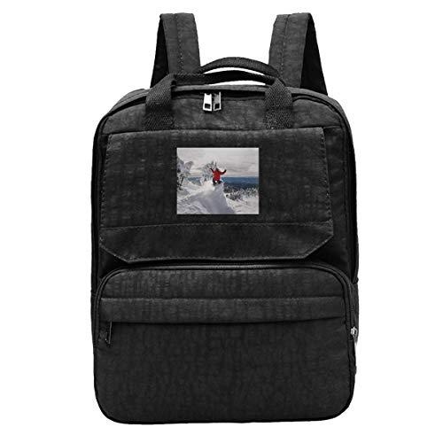 Shoulder Bag Snowboard Jump Snowboarder Snowboarding Laptop Gift Student Casual Daypack Bookbag Student Women Backpack Teens Travel Durable Lightweight Printed College School Bag