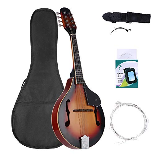 MIRIO A Style Mandolin Musical Instrument Sunburst, 8 String Acoustic Mandolin with...