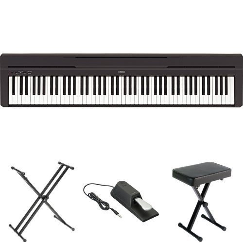 Yamaha P45 Digital Piano with X-Stand, Bench, and Pedal